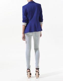 New Women's Fashion Casual Lapel OME Button Tunic Slim Suit Blazer Coat Jacket