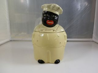 "Vintage Pearl China ""Cooky"" 1940's Black Americana Cookie Jar"