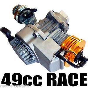 49cc 2 Stroke Race Engine High Performance Pocket Dirt Bike Rocket Quadard
