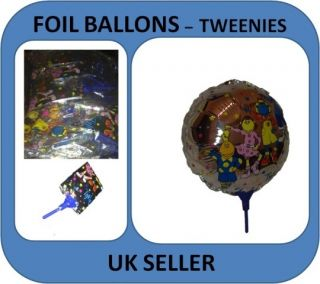 24cm Foil Balloon Tweenies Character Balloons Party Garden Air Fill with Stick