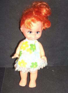 1960's 1970's Orange Red Hair 7 inch Doll 272