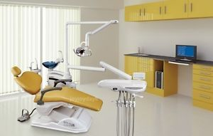 Computer Controlled Dental Unit Chair FDA CE Approved C3 Hard Leather