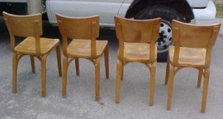 4 Thonet Mid Century Bentwood Dining Chairs