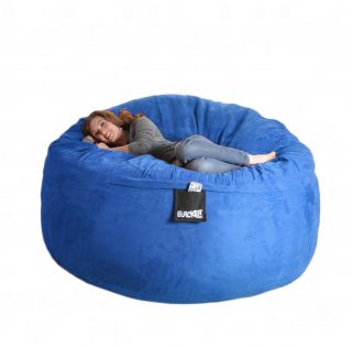 6' Royal Blue Round Foam Bean Bag Chair Sack Sac Love Sea XL