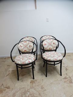 4 Vintage Bent Wood Thonet Mid Century Arm Dining Ice Cream Parlor Chairs