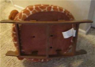 ... Adorable Childs Plush Giraffe Rocking Chair ...