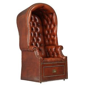 French Antique Dome Top Arm Chair Fine Genuine Antique Leather Mid 20th Century