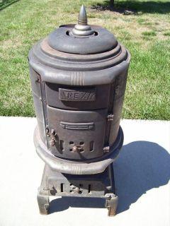 Vintage RARE Rex Pot Belly Wood Burning Stove CA1905
