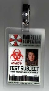 Resident Evil ID Badge Umbrella Corp Test Subject Alice