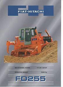 Fiat Hitachi FD255 Crawler Dozer Brochure 1999