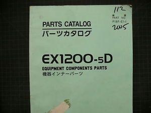 Hitachi EX1200 Excavator Parts Book Manual Catalog Shop