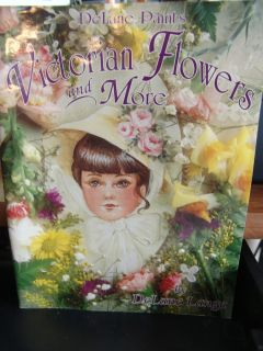 Victorian Flowers and More Tole Painting Instructional Book by Delane Lange