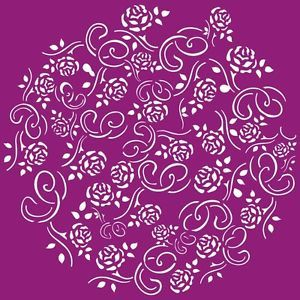 Flower Pattern Airbrush Stencil Template Paint Wall Home T Shirt New 003239Y L