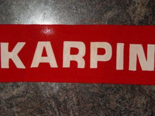 Russian CCCP Hockey Jersey Karpin Red Nameplate USSR