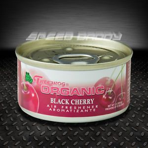 Treefrog Organic Black Cherry Scent Car Auto Truck Home Office Air Freshener Can