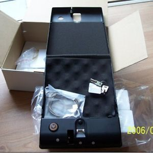 Authentec Fingerprint Sensor Gun Pistol Cash Safe Box Car Home Biometric Keyless
