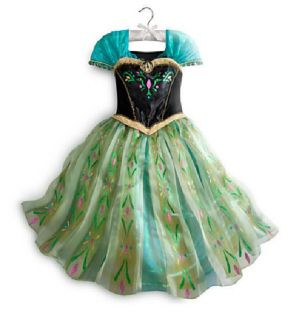 Disney Store Frozen Anna Deluxe Coronation Costume Gown Dress 9 10