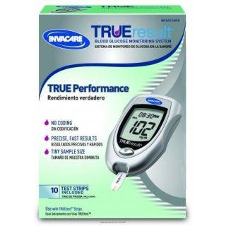 Invacare True Result Blood Glucose Monitoring System ISG1723156