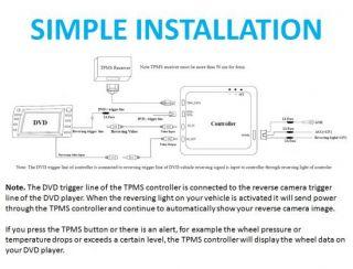 TPMS Tire Tyre Pressure Monitoring System 4 Sensors Car Navigation DVD System
