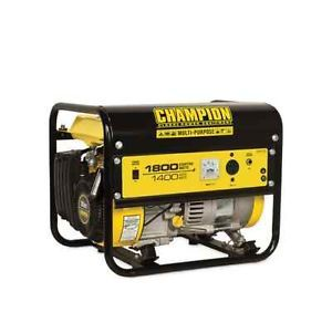 Champion Gas Powered Portable Generator Emergency Power Outage Home Safety