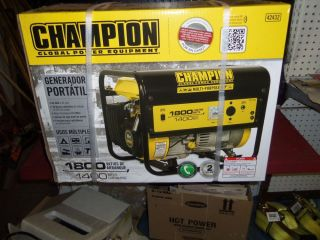 Champion Gas Powered Portable Generator Emergency Power Outage Home Safety New
