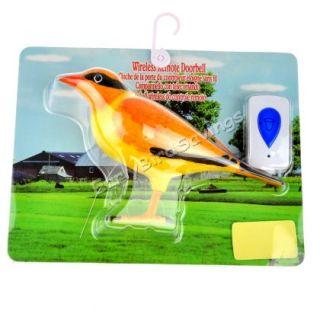 Home Wireless Bird Remote Control Chime Doorbell Alarm Door Bell