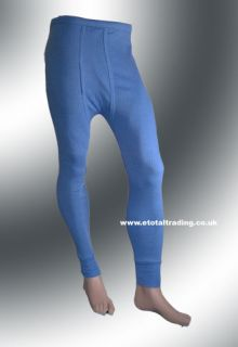2 Mens Thermal Underwear Long Johns XL Blue St