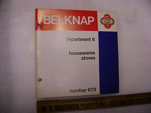 Vintage Belknap Blue Grass Catalog Housewares Stoves