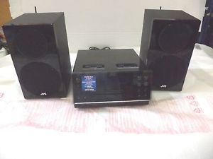 JVC UX F3 CD Micro Component Shelf Stereo Audio System Dual Dock for iPod Radio