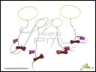 Chrysler 05 10 300 Plasma White Angel Eyes Demon Halo Head Fog Light Bulbs Kit