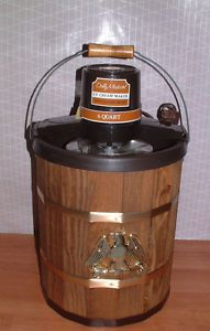 Vintage Dolly Madison Electric Williamsburg Ice Cream Maker 6 Qt Wood Bucket