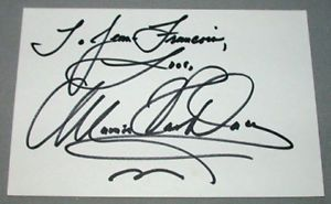 Mamie Van Doren Actress Signed Index Card 2