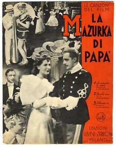 Italian Large Format Movie Sheet Music La Mazurka Di Papa 1938