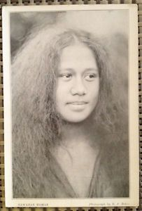Hawaiian Woman by Ray Jerome Baker – Vintage Large Format Postcard Photo