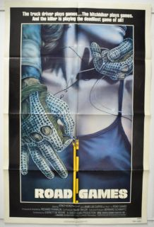 Road Games 1981 Cinema One Sheet Movie Poster Roadgames Jamie Lee Curtis