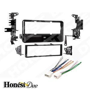 Toyota Car Stereo Single ISO DIN w Pocket Radio Install Dash Kit Combo 99 8202