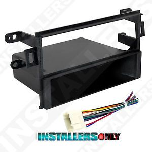 Accord Car Stereo Single ISO DIN w Pocket Radio Install Dash Kit w Wires 99 7895