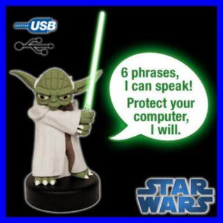 Stupenda Figura Maestro Yoda Star Wars Parlante E Spada Laser Con Luce Nuova