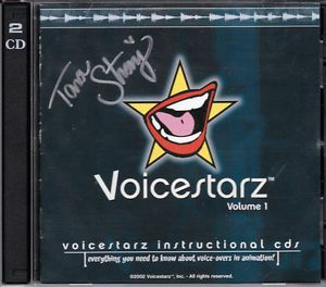 Voicestarz Instructional CDs Many Actors Actresses Autographed by Tara Strong
