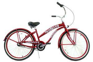 "26"" Ladies 3 Speed Beach Cruiser Bicycle Shimano Nexus Internal Red"