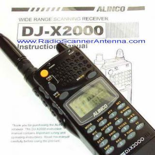 Alinco DJ X2000 K Japan Wide Receiver Radio Scanner
