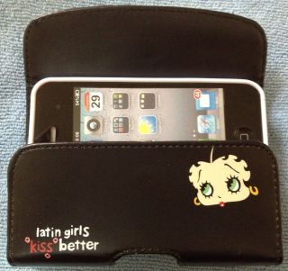 Betty Boop Latin Girl Pouch Case Clip iPhone 4S 4 8 16 32 64 G GB 8g 16g 32G 64G