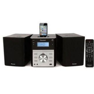 Pioneer x EM21 Micro HiFi CD Player Radio Stereo Shelf System iPod Dock USB In