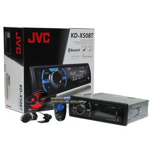 JVC KD X50BT Car Stereo Receiver  WMA Front and Rear Aux Built in Bluetooth