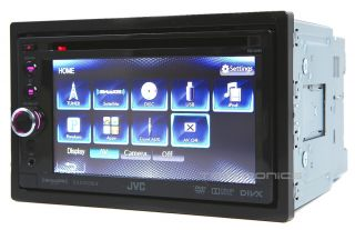 """JVC KW AV61 2yr Wrnty in Dash 6 1"""" LCD DVD  USB Bluetooh Car Stereo Receiver"""