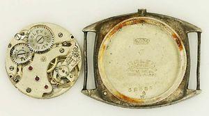 Rolex 1934 Manual Wind 15 Jewel Movement 7 World's Records Silver 0 925 Case