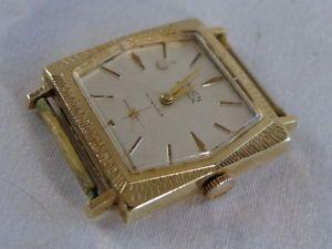 Vintage 14KG Gold Case Mens Wrist Watch Gruen Precision 17 Jewel