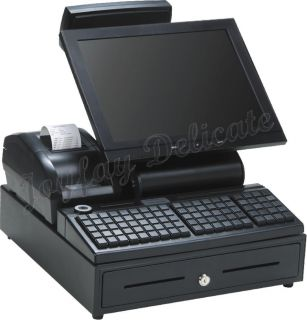 New Promotion All in One POS System POS Cash Register Touch Panel 110V