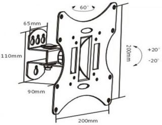 """Tilt Swivel LCD LED Monitor TV Wall Mount Bracket 19 21 23 24 26 27 32 37"""""""