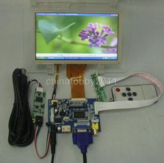 HDMI VGA 2AV LCD Driver Board 7inch 800 480 AT070TN92 LCD Touch Panel Remote